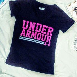 💕Under armour black short sleeve tee shirt 💕